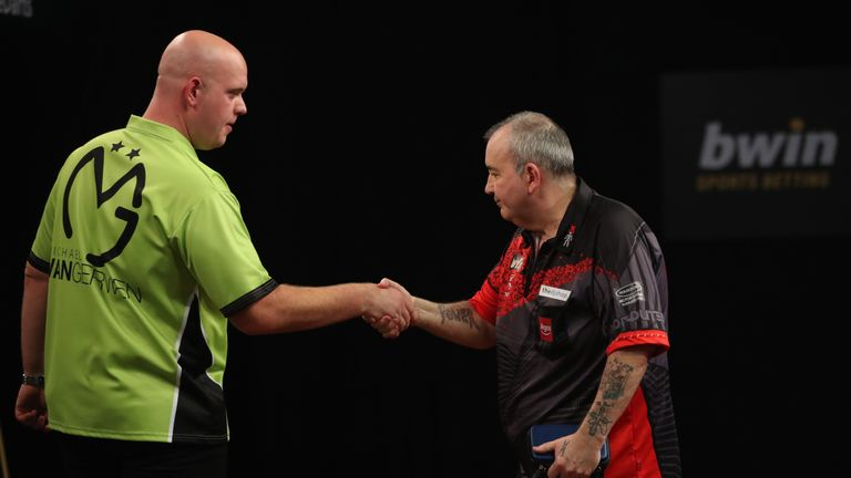 Taylor and Van Gerwen's last meeting came in the semi-final of the Grand Slam in 2017, when MVG was victorious