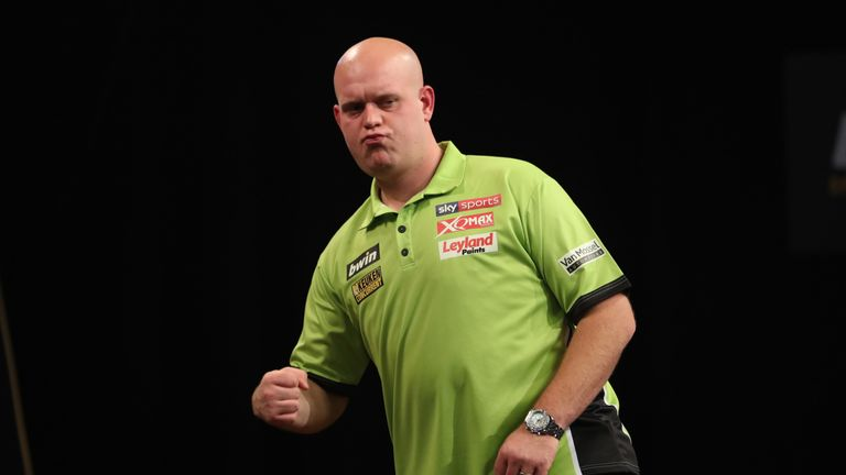 Michael van Gerwen was near flawless in sweeping into the third round of the World Darts Championship