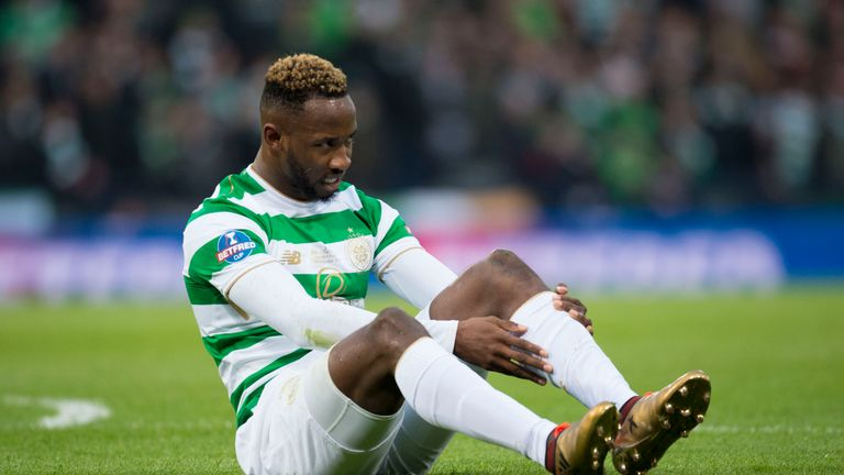 Celtic's Moussa Dembele came on for his first piece of action this year