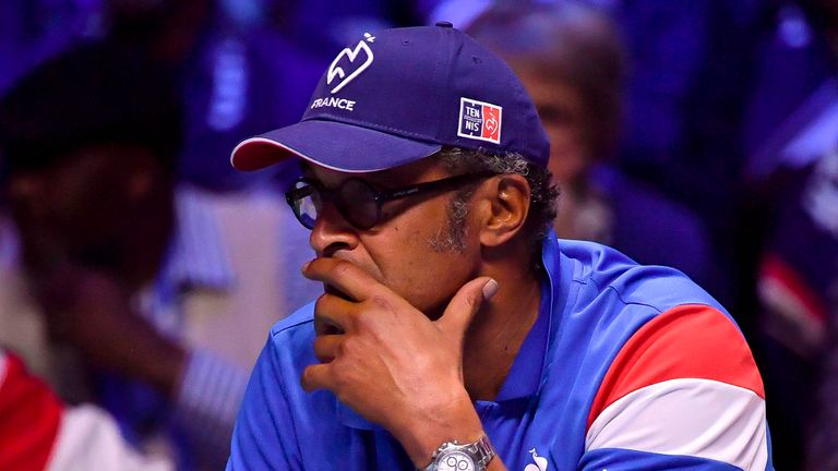Yannick Noah is aiming to steer France to Davis Cup victory to end a drought dating to 2001