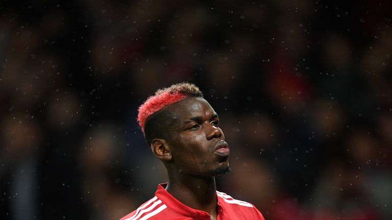 Pogba will miss Sunday's Manchester derby following his dismissal against Arsenal
