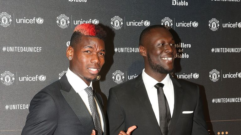 Paul Pogba and Stormzy met up on the red carpet