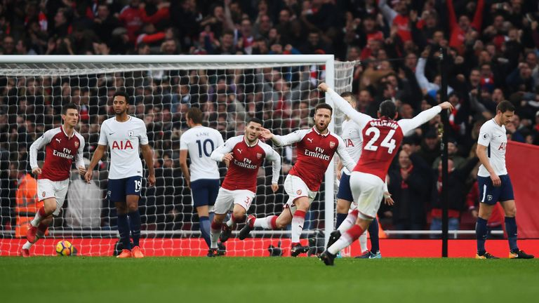 Mustafi headed the opening goal in the win over Tottenham at the Emirates