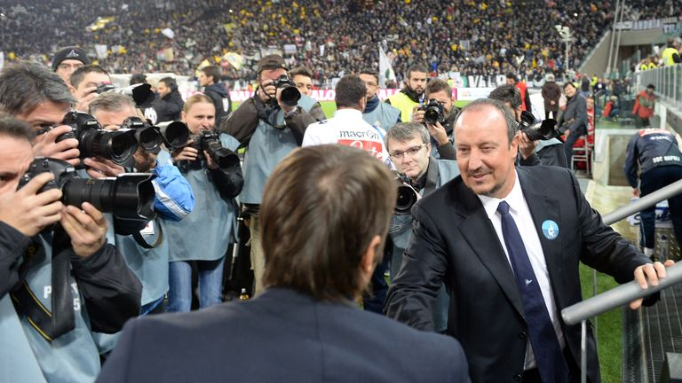 Rafa Benitez and Antonio Conte had a fractious relationship in Italy