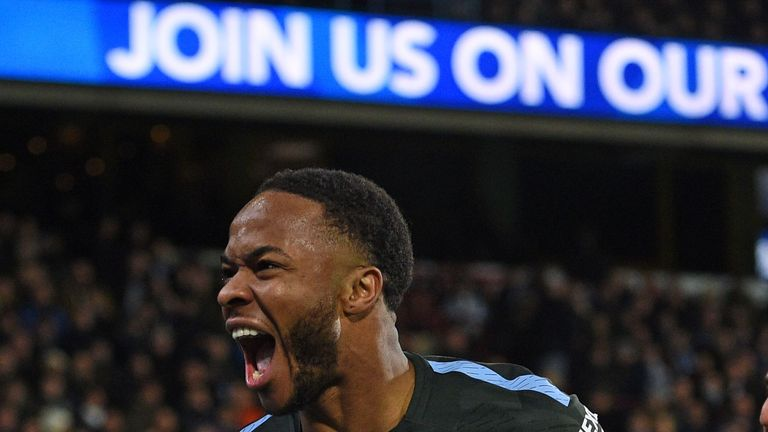 Raheem Sterling scored Manchester City's winner against Huddersfield
