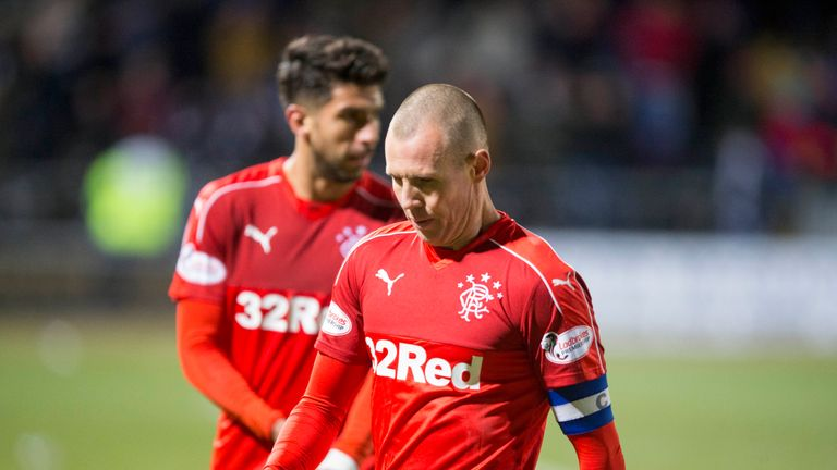 Rangers' Kenny Miller walks off dejected after the defeat