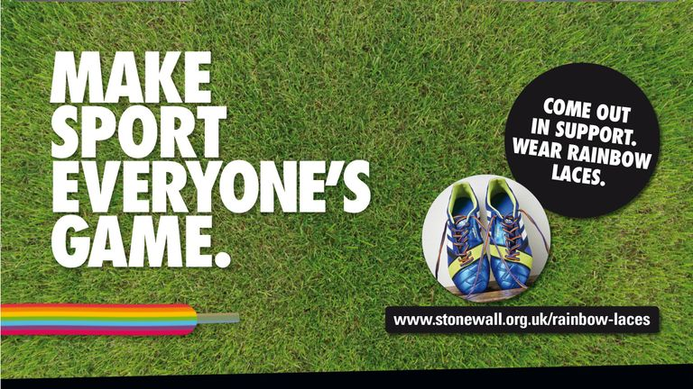 The Rainbow Laces campaign aims to make sport more inclusive for LGBT people