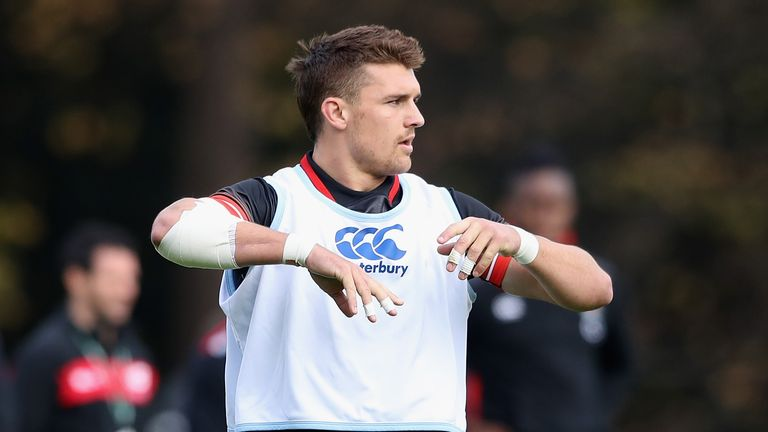Henry Slade featured in the No 12 jersey for England on Saturday