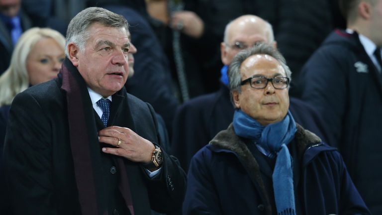 Allardyce was in attendance for Everton's 4-0 against West Ham on Wednesday