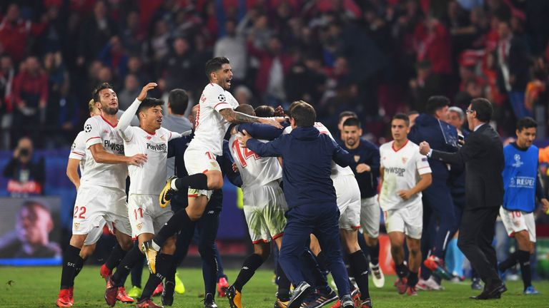 Sevilla 3 3 Liverpool Reds Made To Wait For Champions League Last 16 Spot After Losing Three Goal Lead Football News Sky Sports