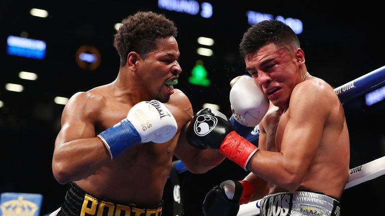 Shawn Porter (L) will likely look to force Garcia into a dogfight