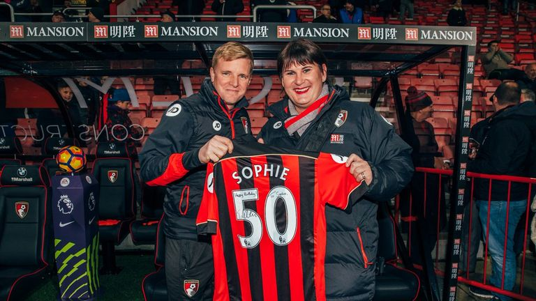 Cook says Eddie Howe and his Bournemouth players were hugely supportive when she came out as trans