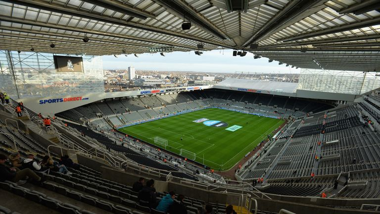 Newcastle's St James' Park hosted three games during Rugby World Cup 2015