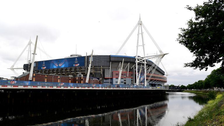 CARDIFF, WALES - JUNE 02:  General view outside the stadium prior to the UEFA Champions League Final between Juventus and Real Madrid at the National Stadi