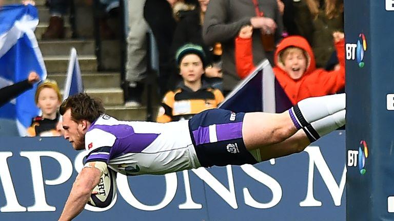 Scotland full-back Stuart Hogg opened the scoring early