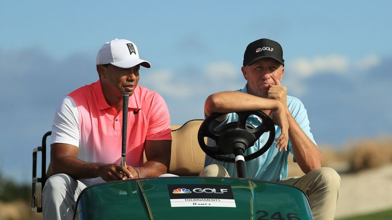 Jim Mackay will swap his microphone for Thomas' golf bag at the Sony Open
