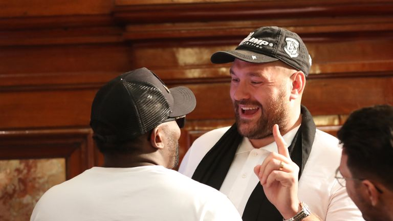 Fury with Dereck Chisora in Monaco this weekend