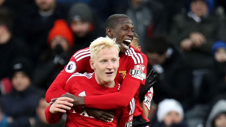 Will Hughes scored as Watford beat Newcastle 3-0 at St James' Park