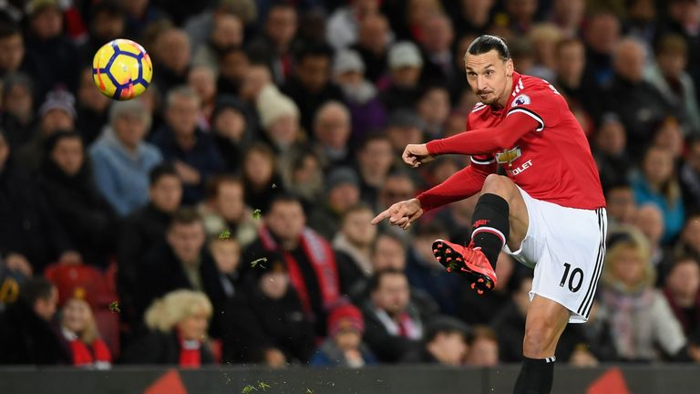 Zlatan Ibrahimovic will miss Manchester United's game against Stoke with a hamstring problem