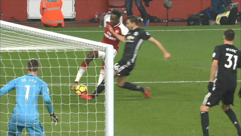 Was Welbeck fouled?