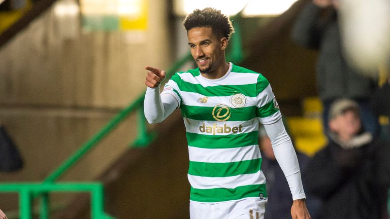 Scott Sinclair scored Celtic's third goal a single minute after Forrest's strike