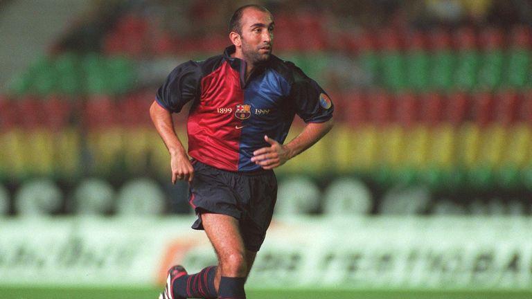 Abelardo during his playing days with Barcelona