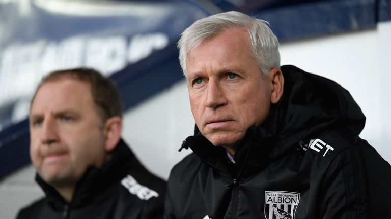 """Alan Pardew, says West Brom have to be """"realistic"""" about keeping hold of Jonny Evans"""