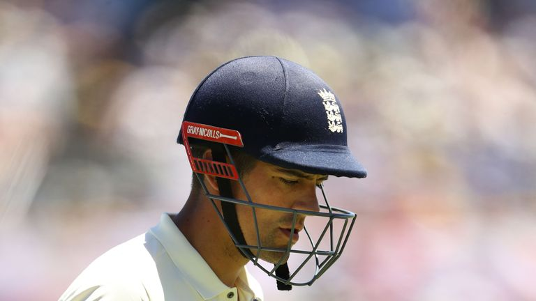 Cook admitted he was 'embarrassed' by his form early in the Ashes series
