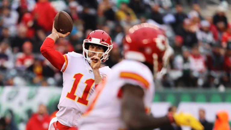 Quarterback Alex Smith was back on form for the Chiefs in the loss to the Jets