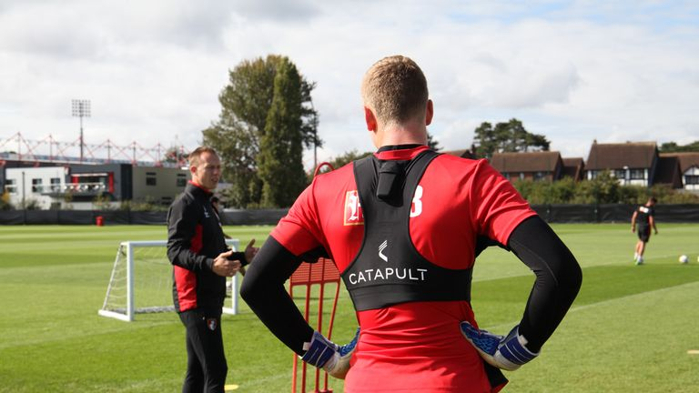 Anthony White oversees a goalkeeper training session at Bournemouth