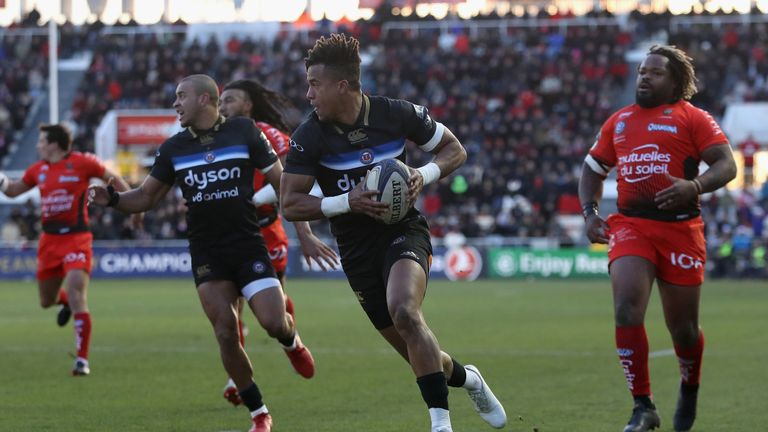 Bath full-back Anthony Watson went over for the game's first try