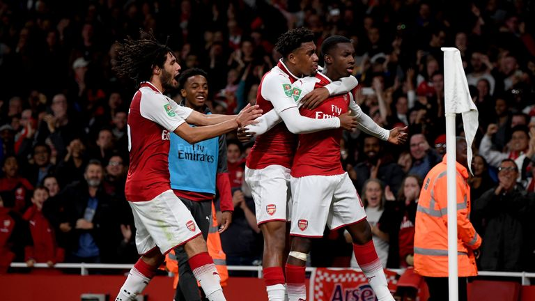Arsene Wenger will keep faith in his youngsters for Tuesday's Carabao Cup quarter-final against West Ham.