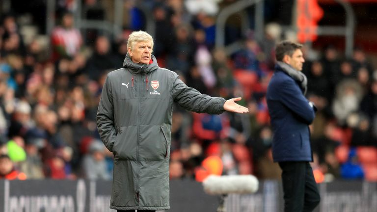 Arsene Wenger was unhappy with Southampton's time-wasting in the second half