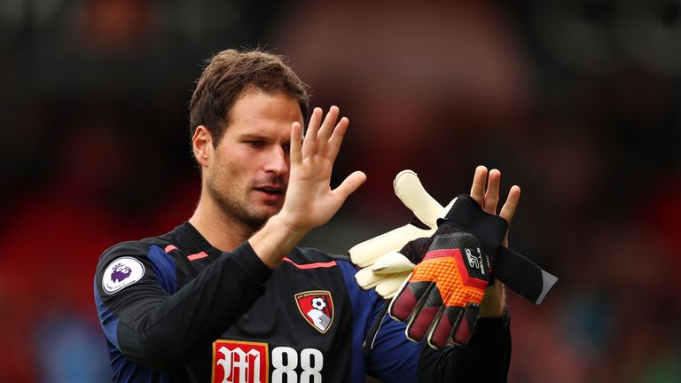 Asmir Begovic has been ever-present for Bournemouth in the Premier League