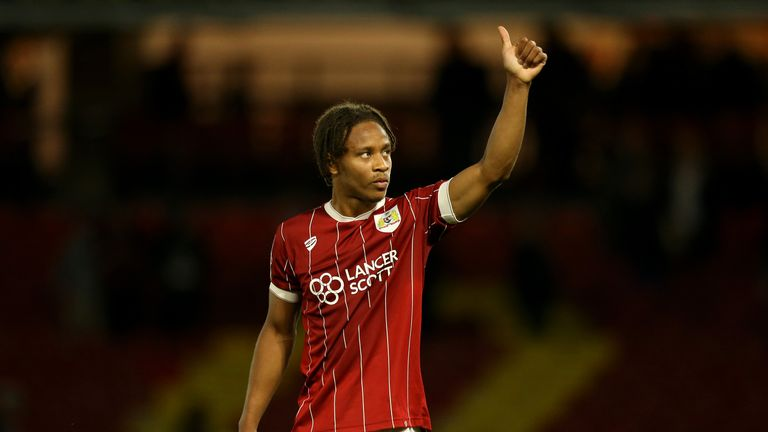 Bobby Reid celebrates at the final whistle during the Carabao Cup Second Round match against Watford