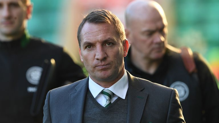 Brendan Rodgers says he is happy at Celtic amid speculation linking him to Arsenal as a replacement for Arsene Wenger