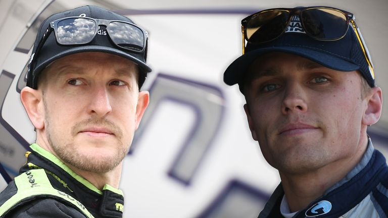 Charlie Kimball (left) and Max Chilton (right) will race for Carlin in IndyCar in 2018