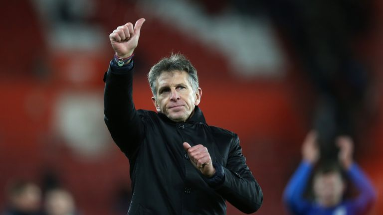 Claude Puel is one of four nominees for March's Premier League manager of the month award