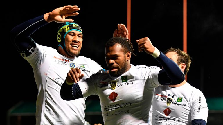 Alvereti Raka scored a first-half hat-trick to help Clermont stun Saracens