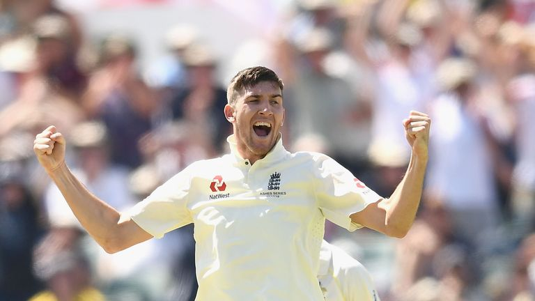 Craig Overton's first wicket in Test cricket was that of Steve Smith