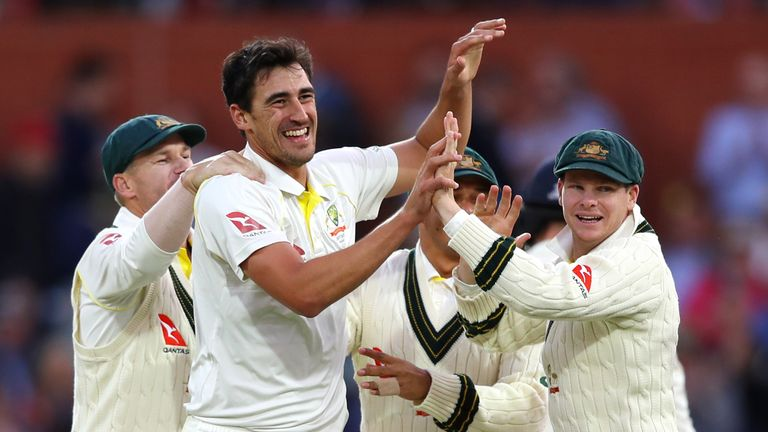 Left-armer Starc took 5-88 in England's second innings in Adelaide