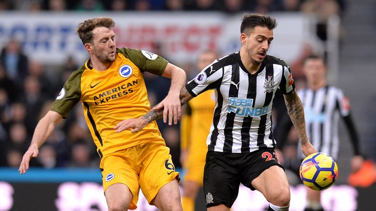 Joselu has struggled to find the back of the net for Newcastle