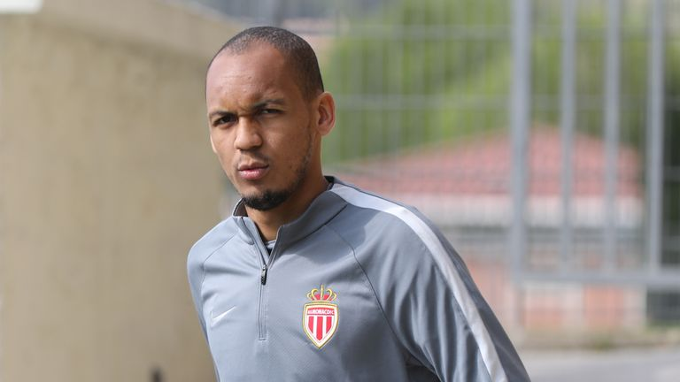 Monaco's Brazilian defender Fabinho arrives for a training session on the eve of their UEFA Champions League football match against Dortmund on April 18, 2