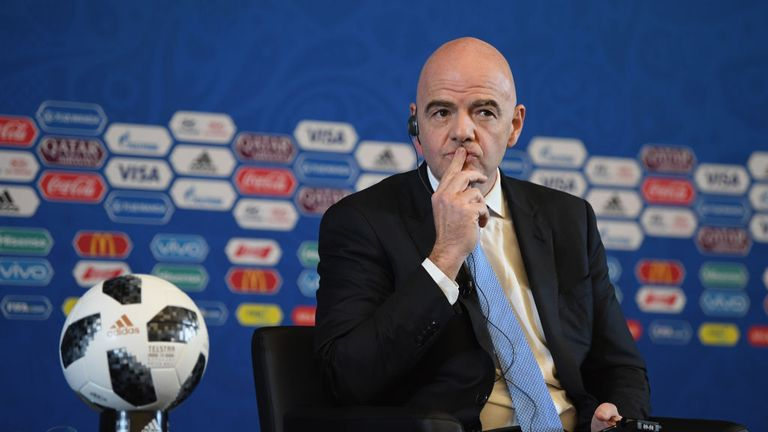 FIFA president Gianni Infantino is believed to prefer the combined North American bid