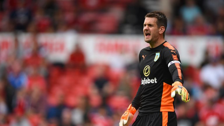 Tom Heaton has been out injured at Burnley - and has seen Pope take his place