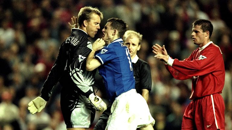 Sander Westerveld and Francis Jeffers were involved in a furious bust-up