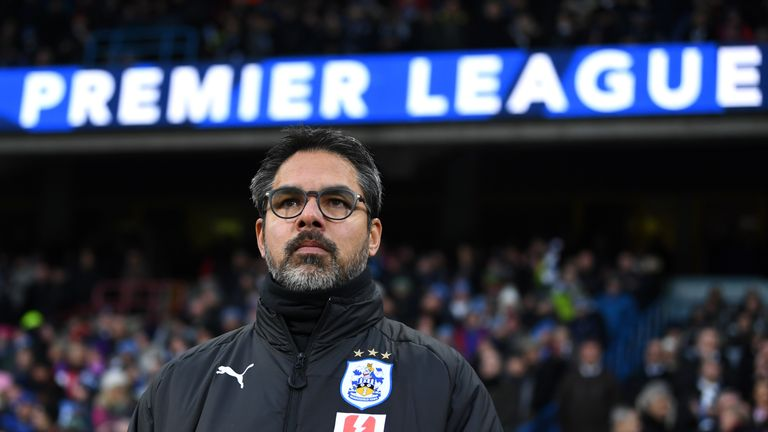 HUDDERSFIELD, ENGLAND - DECEMBER 09:  David Wagner, Manager of Huddersfield Town looks on prior to the Premier League match between Huddersfield Town and B
