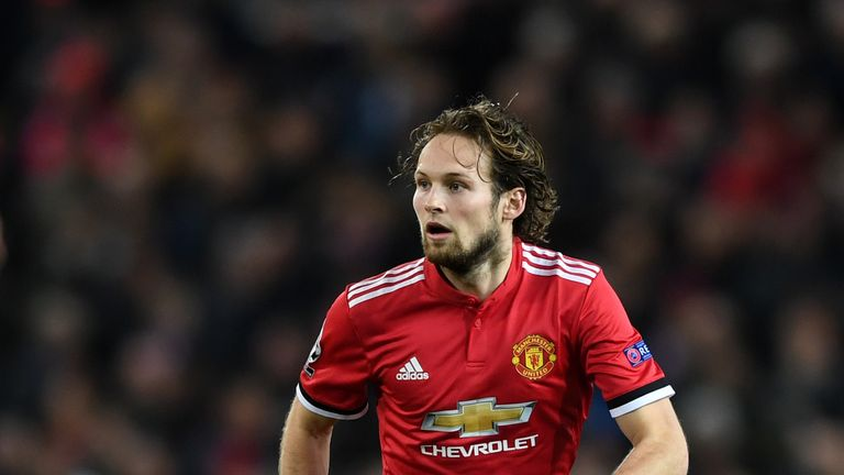 Daley Blind of Manchester United during the UEFA Champions League group A match between Manchester United and CSKA Moskva at Old Trafford on December 5, 20