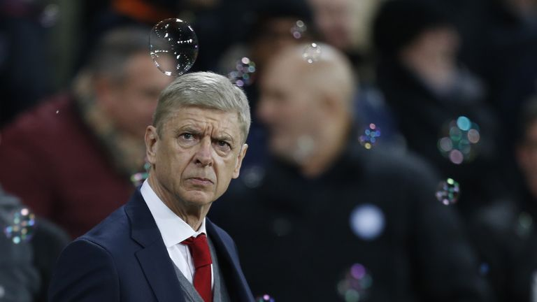 Arsenal's French manager Arsene Wenger attends the English Premier League football match between West Ham United and Arsenal at The London Stadium, in east