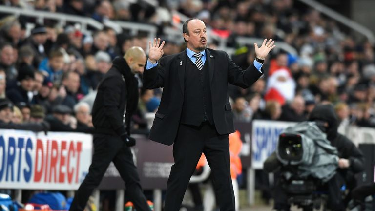 Rafael Benitez highlighted how teams have shipped in four goals against City in recent outings